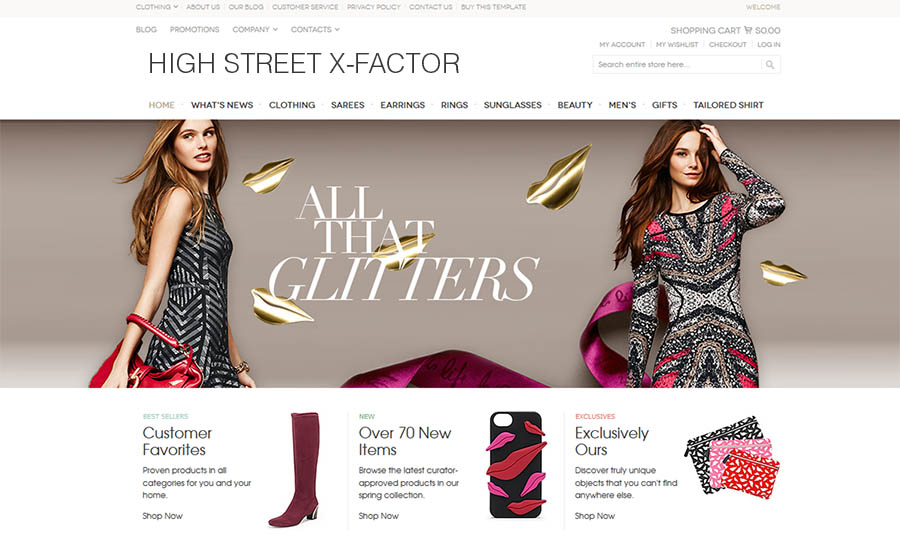 iHomepage Design Studio Beautiful eCommerce Designs